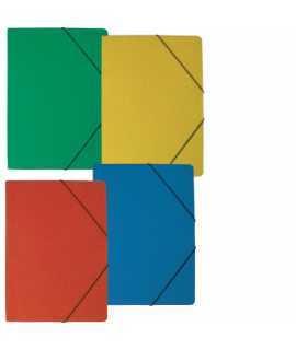 Carpeta con gomas. Tamaño: 35x25 cm. Color verde. Acabado brillante