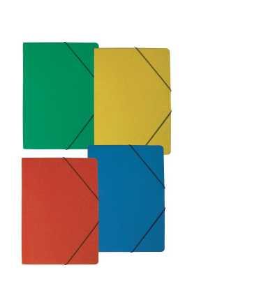 Carpeta con gomas, amarilla. Medida folio. 5 unidades