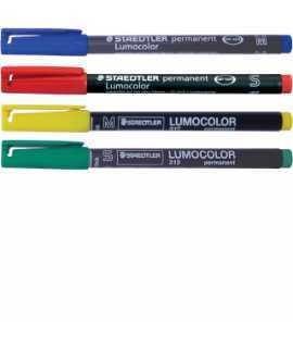 Retoladors Lumocolor mina fina color verd