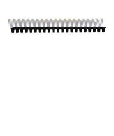 Canonets de plàstic. Mida: 32 mm. Color blanc. 21 anelles.