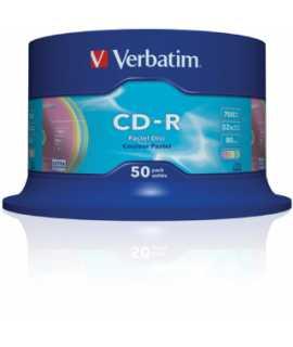 CD Verbatim imprimible 700MB, 74 minuts. 50 unitats.
