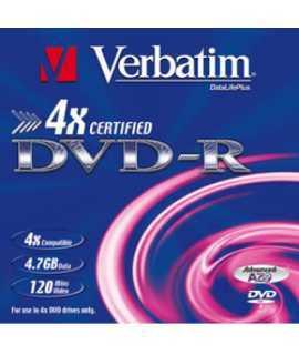 DVD-R Verbatim. Capacidad: 8,5 GB