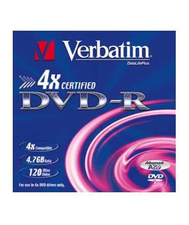 DVD-R Verbatim. Capacitat: 8,5 GB