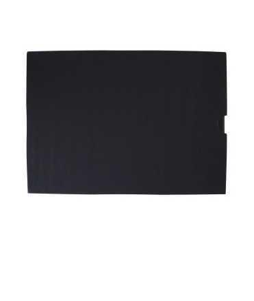 Carpeta amb funda, DIN A3. Llom 5 cm. Mida: 35x47x5 cm. Color negre. 4 anelles quadrades