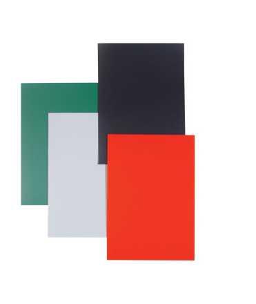 Tapas Glassy DIN A3. Color blanco. 50 unidades