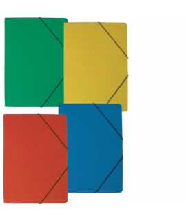 Carpeta con gomas, azul mate. Medida folio. 5 unidades