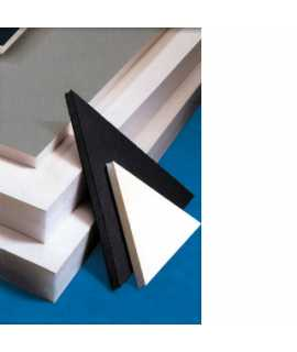 Cartón pluma, 5 mm. Tamaño: 50x70 cm. Color negro