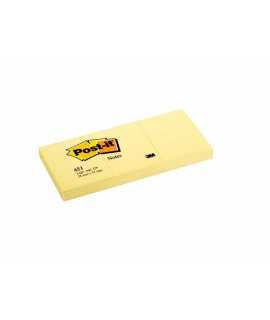 Bloc de notes adhesives Post-it. Mida: 3,8x5,1 cm. 100 fulls, 3 unitats