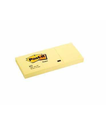 Bloc de notes adhesives Post-it. Mida: 3,8x5,1 cm. 100 fulls, 3 unitats