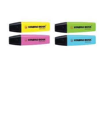 Marcador fluorescent Stabilo Boss. Color rosa