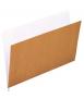 Subcarpetas bicolor de cartón kraft DIN A4. Interior blanco. 50 unidades.