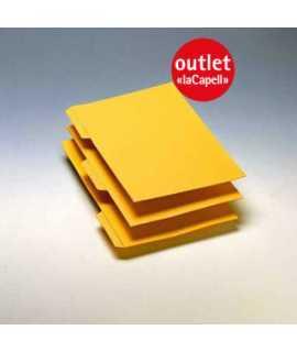 Subcarapeta amb pestanya. Mides: 33,5 x 24,2 cm. Color groc