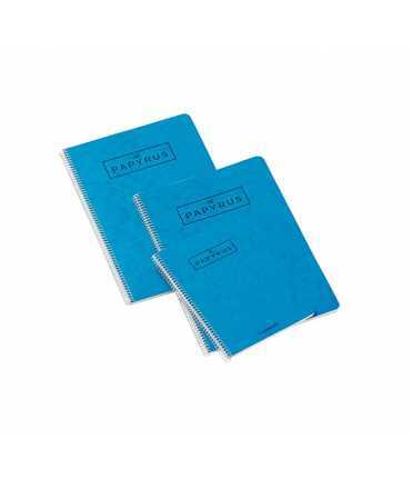 Llibreta Papyrus, quartilla. Color blau. 80 fulls. Acabat llis