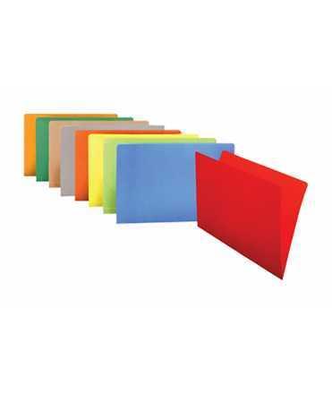 Subcarpetes de cartolina de color or, DIN A4. 50 unitats.