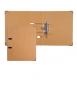 Arxivador de palanca, 2 anelles. Llom 7 cm. Mida: 32x27x7 cm. Color kraft