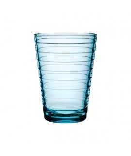 Vaso de vidrio. Azul aigua, 33cl.