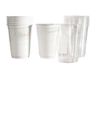 Plats i vasos de plàstic unitats 100 vasos color 150cc  blanc