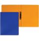 Carpeta, llom 3 cm. Mida: 34x26x3 cm. Color vermell. 2 anelles rodones