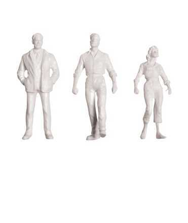 Figures humanes, escala 1:100. Color blanc. 12 figures.