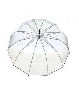 Paraigües transparent amb ribet negre