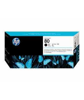 Cabezal y limpiador HP 80 negro. C4820A