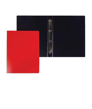 Carpeta, llom 3 cm. Mida: 34x26x3 cm. Color negre. 4 anelles rodones