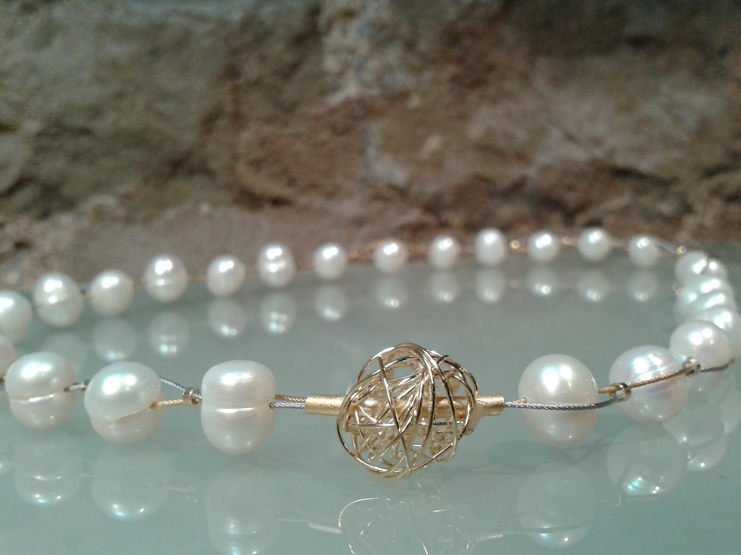 color atractivo comprar real Precio reducido Collar de perlas naturales