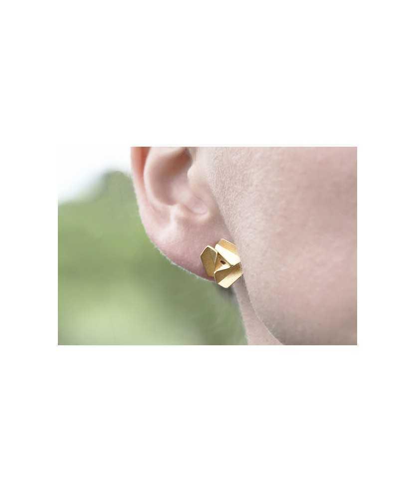 venta minorista 428c4 3949f Pendientes chapados en oro Molinets, Adriana Díaz